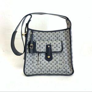 Louis Vuitton Blue Canvas Leather Bag